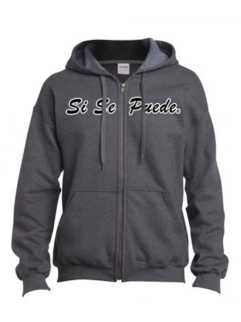 Charcoal grey Si Se Puede Zip up sweatshirt