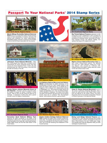 2014 National Parks Stamp Series Collector's