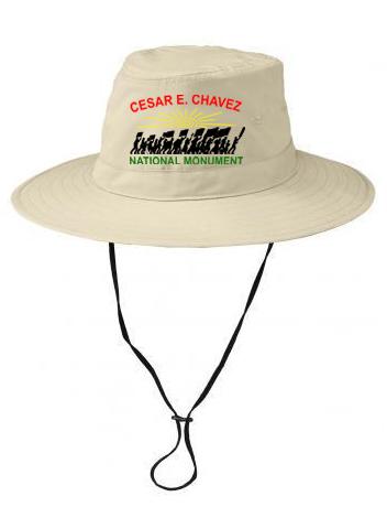 Beige National Monument bucket hat