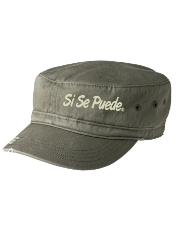 Distressed Olive Green Si Se Puede hat