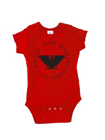 Cesar Chavez Store - Red-Baby-Onsie_1