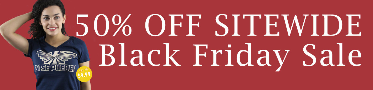 Fifty percent off site-wide black friday sale